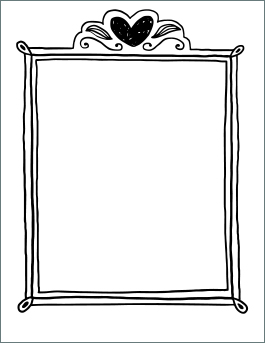 valentines day coloring page frame - Free Valentine Coloring Pages
