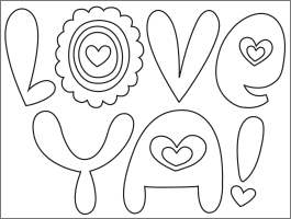 High Quality Valentineu0027s Day Coloring Page: Love Ya
