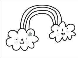 valentines day coloring page rainbow