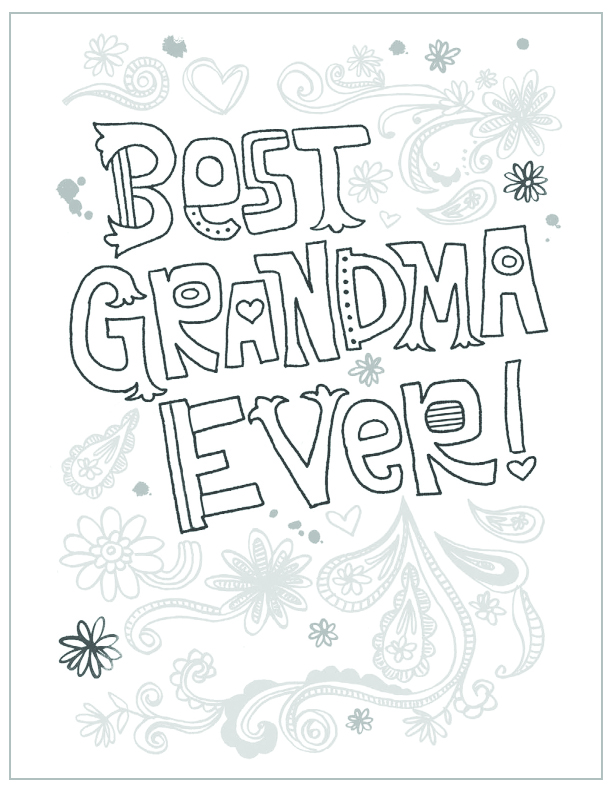 mothers day free printable coloring pages mandala flowers mandala flowers best grandma ever - Mothers Day Coloring Pages