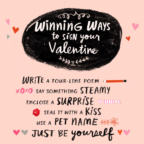 What to Write in a Valentine's Day Card - How to Sign