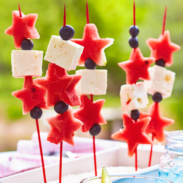 Fruit Kabob Sparklers Recipe