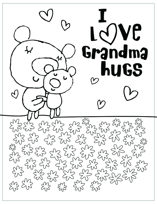 mothers day free printable coloring pages grandma hugs - Free Mothers Day Coloring Pages