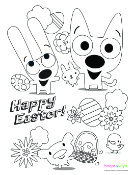 Hoops And Yoyo Easter Printables