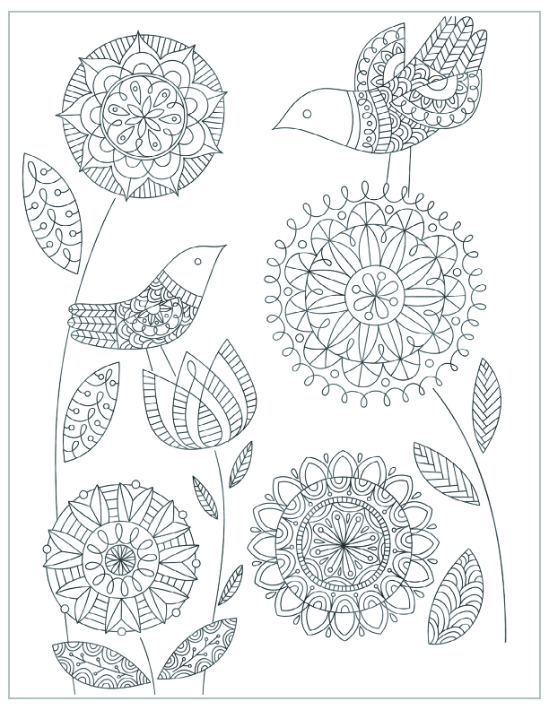 Mothers Day Free Printable Coloring Pages Mandala Flowers