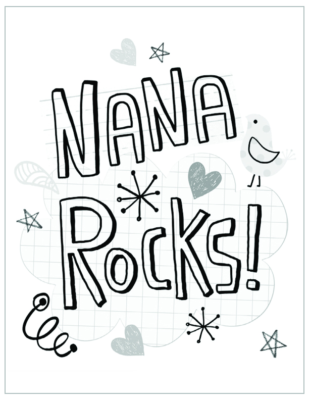 i love you nana coloring pages - photo #19