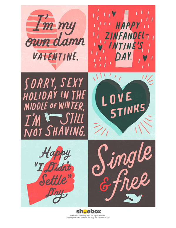 photo relating to Funny Printable Valentines known as Absolutely free printable humorous valentines for older people Hallmark Guidelines