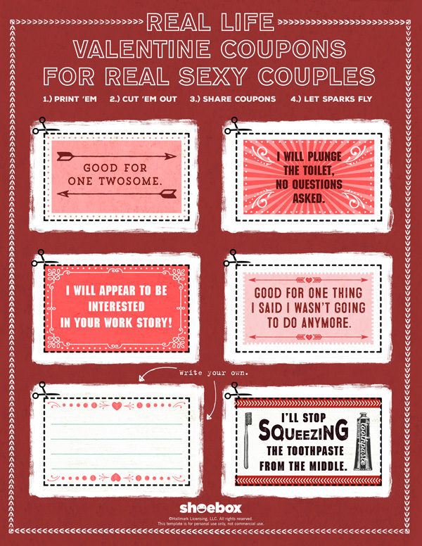 real life coupons free printable funny valentines for adults