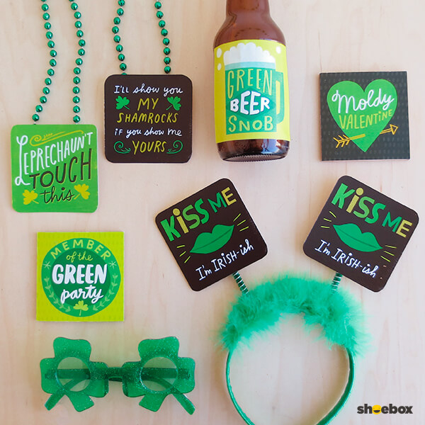 Funny St. Patrick's Day Printables from Shoebox