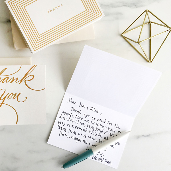To Write In A Wedding Thank You Note