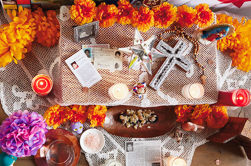 Day of the Dead altar - traditional elements