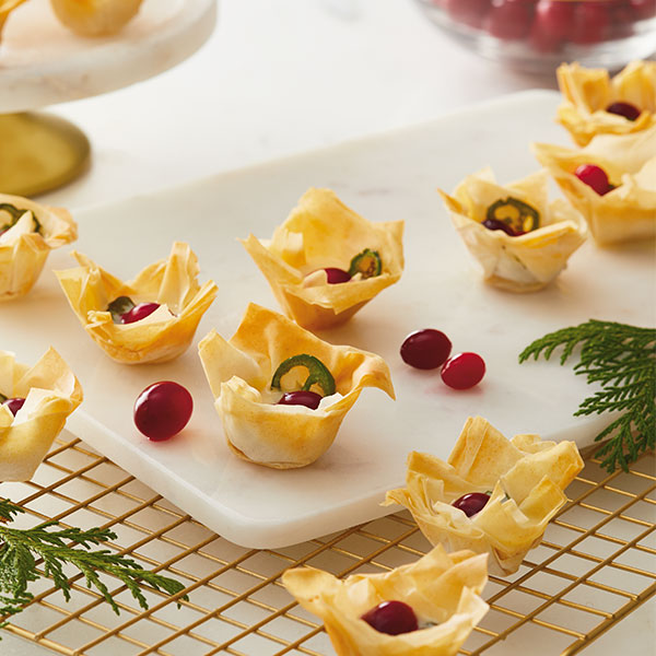 Baked Brie Phyllo Tarts