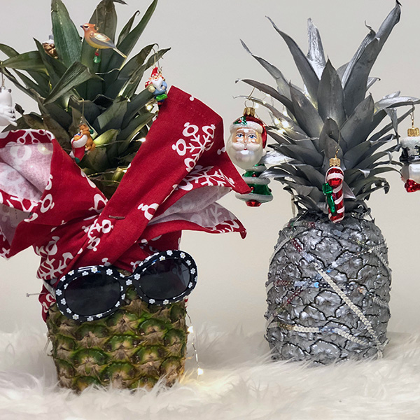 How to Make Pineapple Christmas Trees