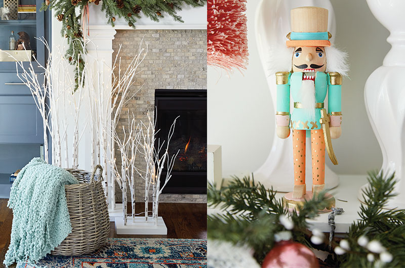 How to decorate a mantel for Christmas - EM