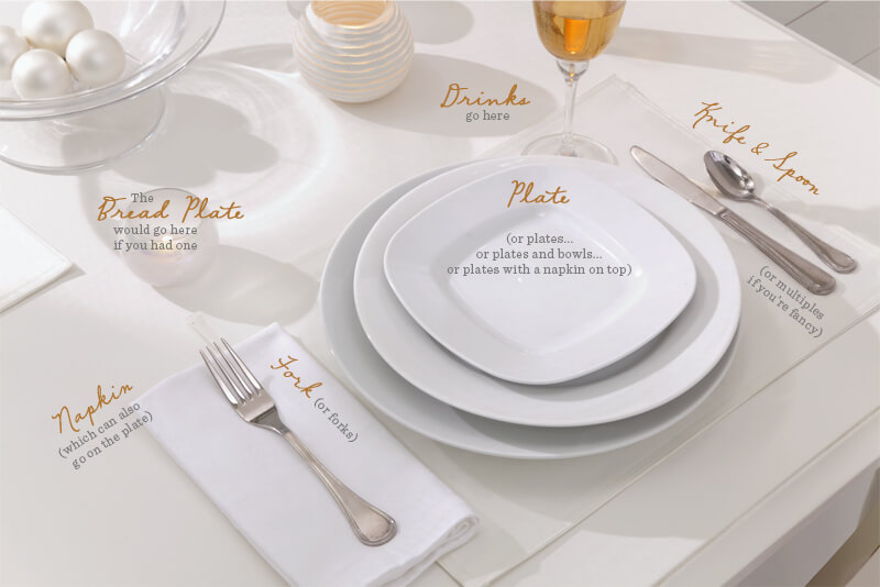 Casual Place Setting - Table guide
