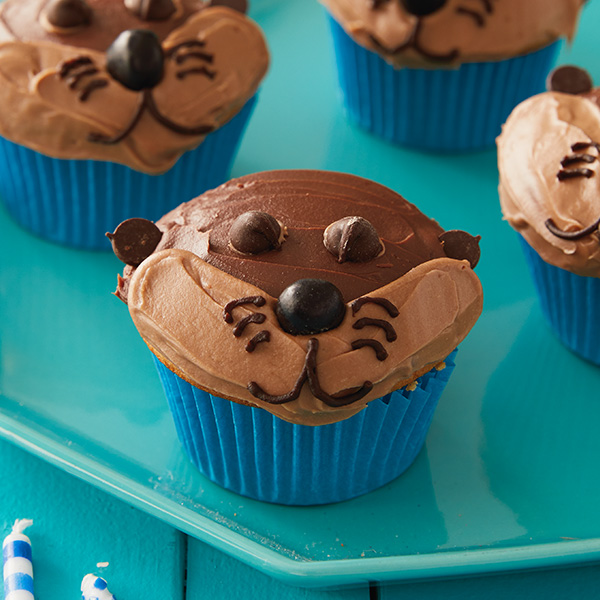 Baby Otter Cupcakes