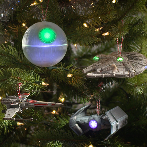 star wars ornaments on the tree your tree the envy of the galaxy christmas