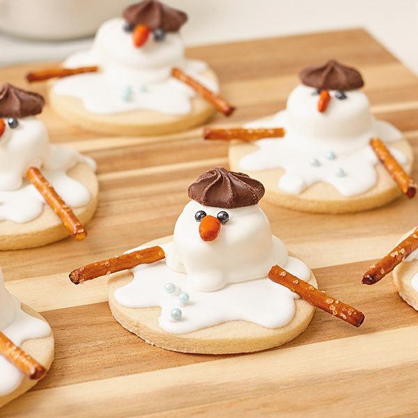 Snow Delicious Melted Snowman Cookies