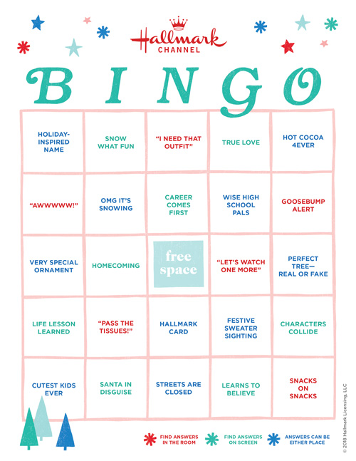 photograph about Musical Bingo Cards Printable identify At ease up for Hallmark Channel Xmas Online video Bingo