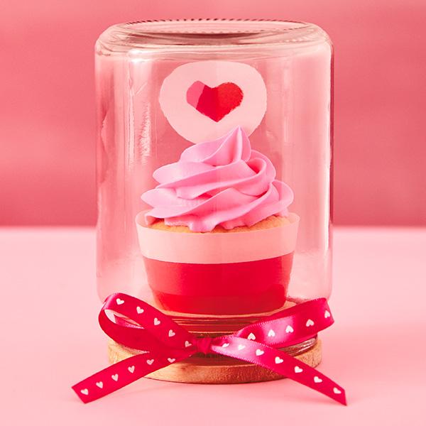 Love on Display Valentine Cupcake