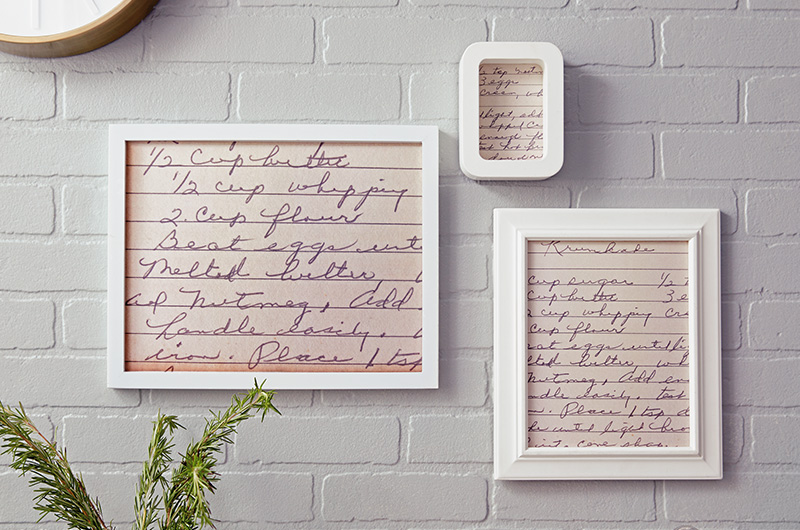 Art - Easy Ideas for Displaying Favorite Family Recipes