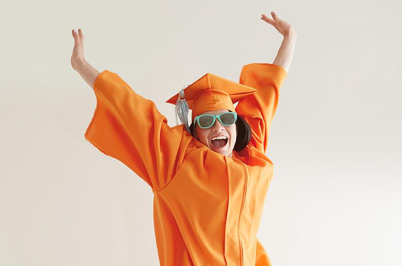 Graduate jumping