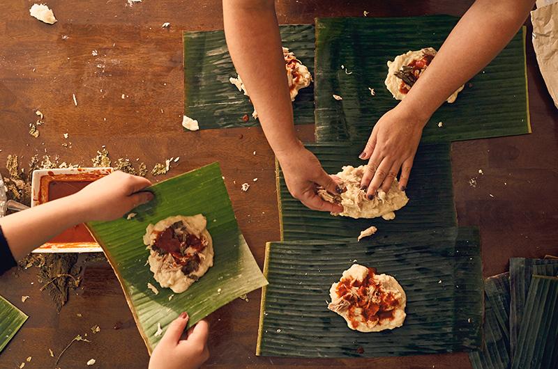 Tamal making - Latinx Christmas Traditions and Holiday Celebrations