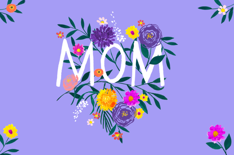 MOM written with flowers - How to Celebrate Birthdays, Holidays and Special Occasions When You Can't Be Together