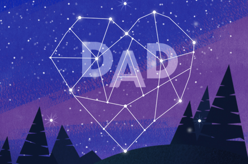 Dad written in stars for ways to celebrate dad from a distance