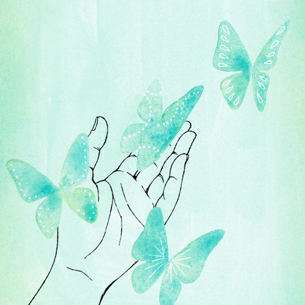 Hand holding butterflies symbolizing Grief Support: How to Help Someone Who is Grieving Immediately after a Loss