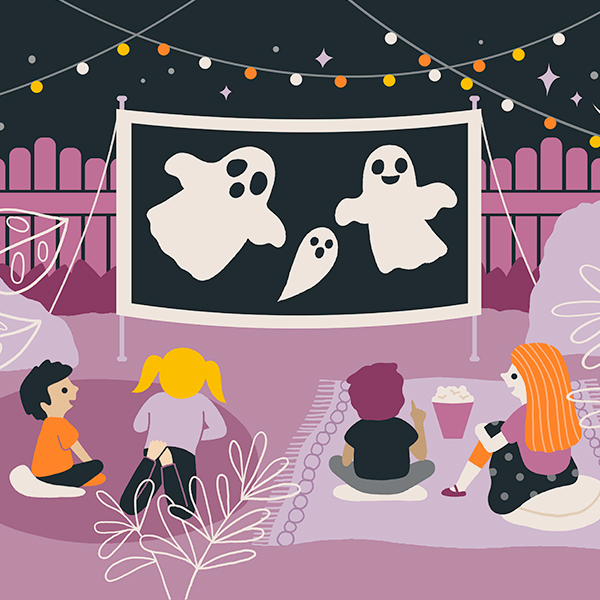 Halloween Family Halloween Movie Night