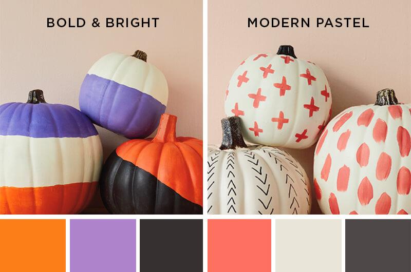 color palettes for painted pumpkins