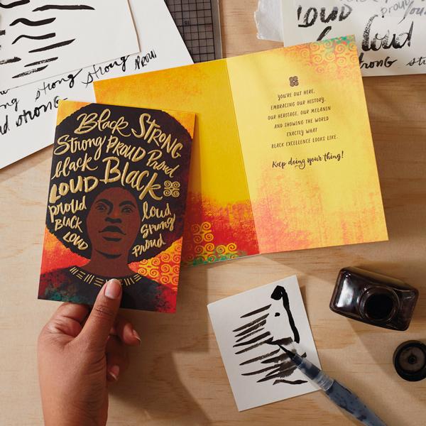 Uplifted & Inspired card in studio
