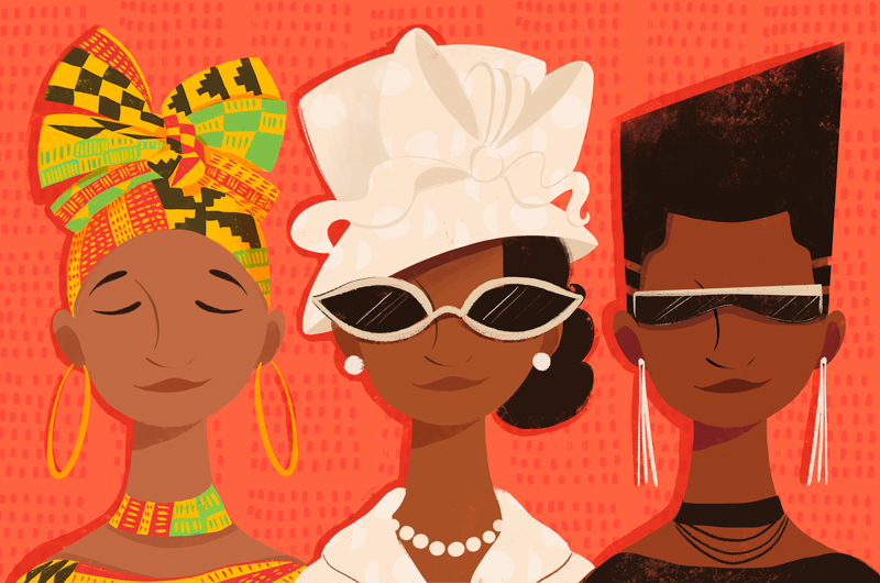 A variety of African-American women Celebrate Black History Month