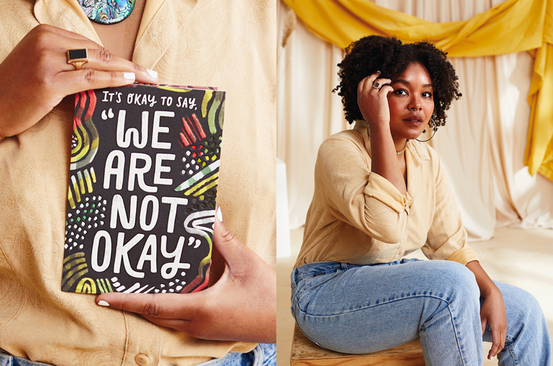 """""""It's okay to say, 'We are not okay.'"""" Written by Courtney Taylor"""