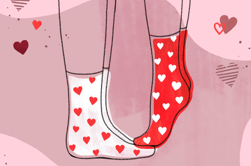 Valentine's Day at Home - Love socks