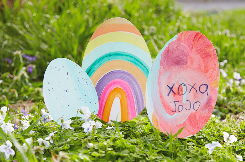 DIY Cardboard Easter eggs