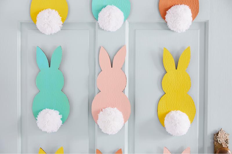 Cardboard Easter bunnies