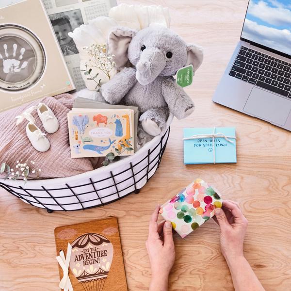 Virtual Baby Shower gift basket