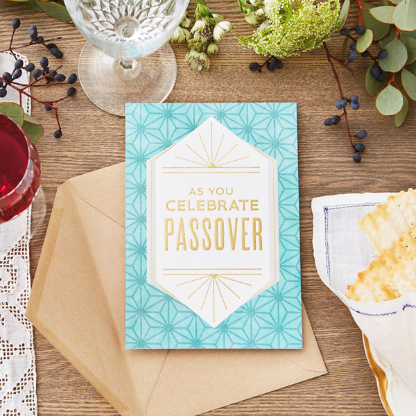 Passover card on a table