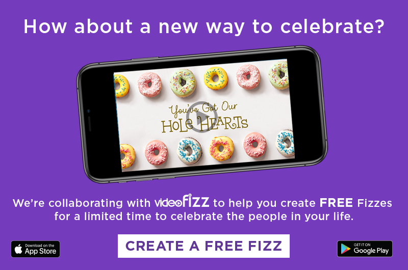 How about a new way to celebrate? Create a Video Fizz