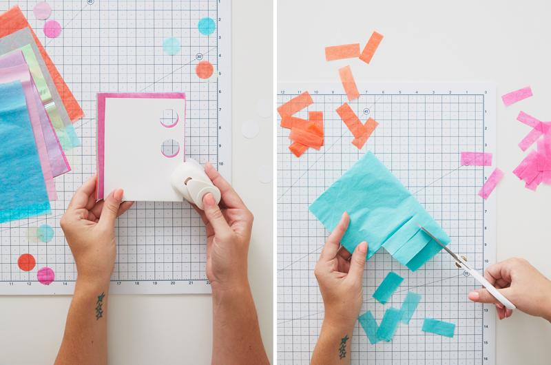 making tissue paper confetti