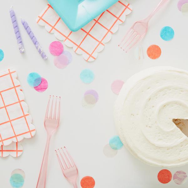 Confetti on a table