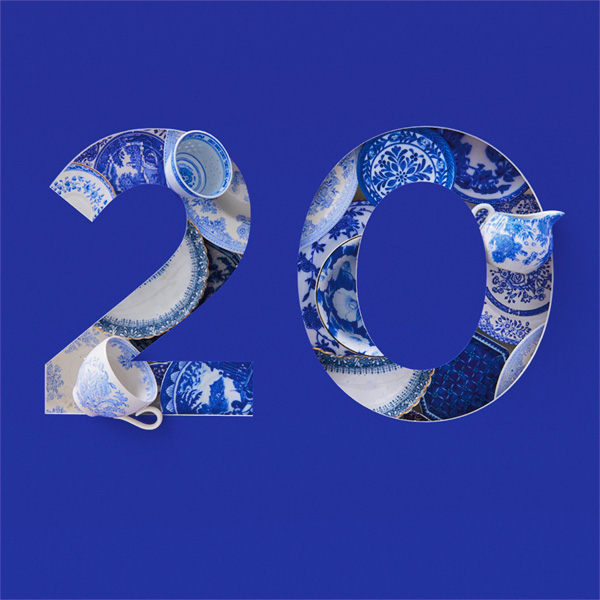Number 20 with symbols for china [Anniversary Gifts by Year]