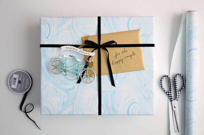 Personalized gift wrap with card