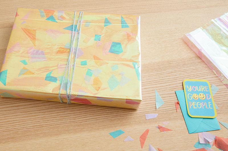 confetti in gift wrap